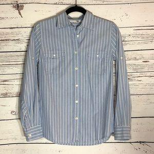 JCREW Button Up Blue Stripe Shirt